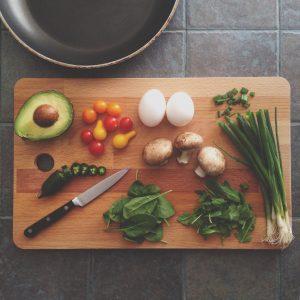 調理される食材