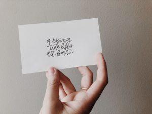 カードに書き出す